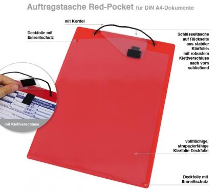 Auftragstasche A4 Pocket: KFZ-Scheinfach, Schlüsseltasche