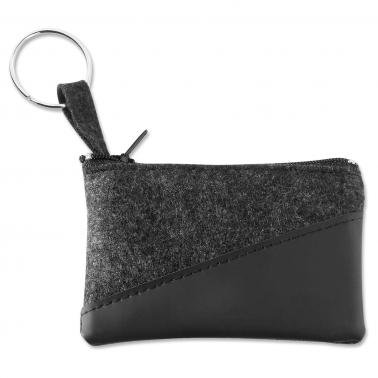 Schlüsseltasche Pulse & Drive: mit Schlüsselring und Nylon-Reißverschluss