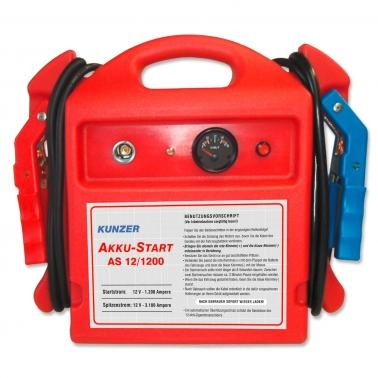 Kunzer Starthilfe AS 12/1200: Spitzenstromstärke 3100 A 12 Volt Starthilfe