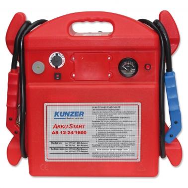 Kunzer Starthilfe AS 12-24/1600: Spitzenstrom 4740 A (12V) für 12 & 24 Volt