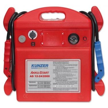 Kunzer Starthilfe AS 12-24/2000: Spitzenstrom 5920 A (12V) für 12 & 24 Volt
