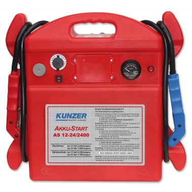 Kunzer Starthilfe AS 12-24/2400: Spitzenstrom 6200A (12V) für 12 & 24 Volt