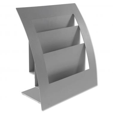 Prospektaufsteller Thekenaufsteller Flex-3: für 3 Formate bis DIN A4 geeignet