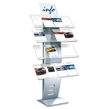 Prospektständer New-Wave 16: für 16 x DIN A4 Prospekte