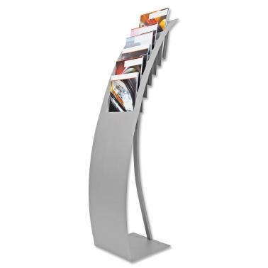 Prospektständer Flex-Line II: 7x DIN A4 Prospektfächer oder 14 x DIN LANG