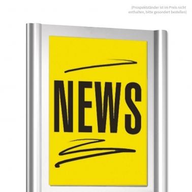Infoschild-Halterung aus Acrylglas: für DIN A4 Infoblatt
