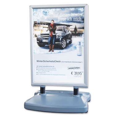 Kundenstopper Wind: für Posterformat DIN A1, mit 2 Rollen