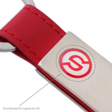 Logosticker M-Größe mit Individual-Logo, Ø 11,5 mm