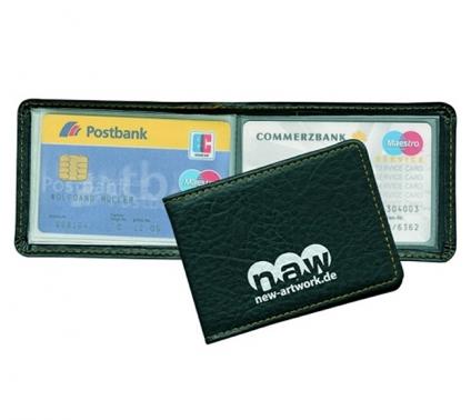 Kreditkartenetui aus lederähnlichem Softmaterial für 10 Kreditkarten