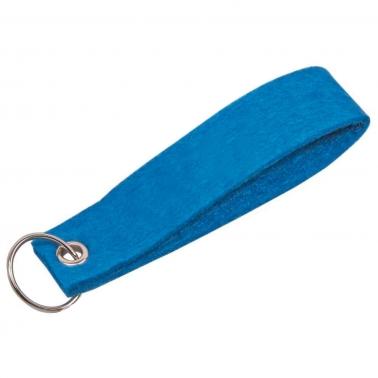 Schlüsselanhänger aus Filz: mit Schlüsselring, mit 1-farbigem Aufdruck