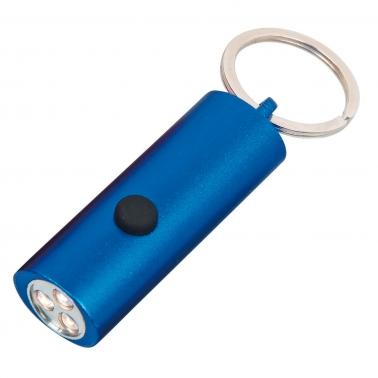 Metall-Taschenlampe mit stabilem Schlüsselring und 3 Stück Power Led-Leuchten