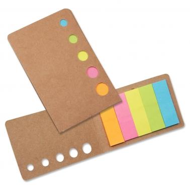 Haftnotiz-Set Sticky mit 5 neonfarbenen Haftnotiz- Blöckchen