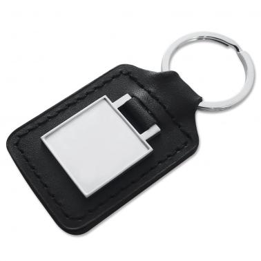 Schlüsselanhänger Square mit Epoxyharzscheibe inkl. 1-4 Farbdruck