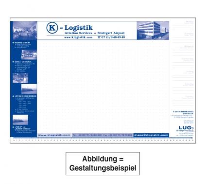 Schreibtischauflage Block mit 50 Blatt, Rückseitenkarton ( ohne Kalendarium)