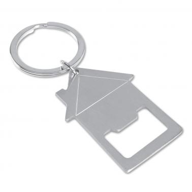 Schlüsselanhänger HOUSE: mit Kapselheber und großem Schlüsselring