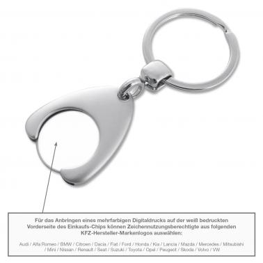 Schlüsselanhänger mit Kapselheberfunktion & Einkaufs-Chip