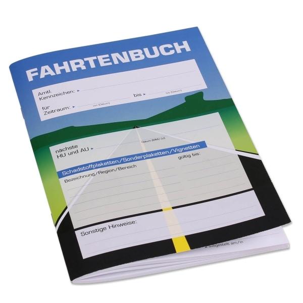 Fahrtenbuch DIN A5 Hochformat, großzügige Spalteneinteilung