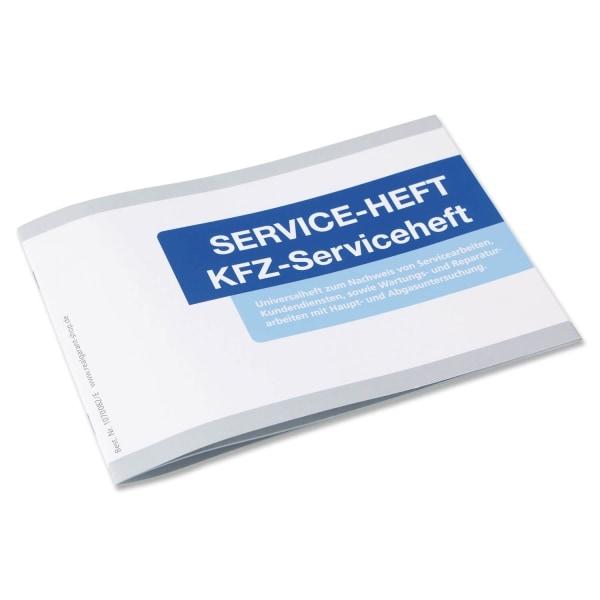 serviceheft neutral kfz scheckheft universell einsetzbar wei blau. Black Bedroom Furniture Sets. Home Design Ideas