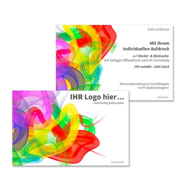 Visitenkarten Business: mit Ihrem Logo oder Werbetext 2-seitig bedruckbar