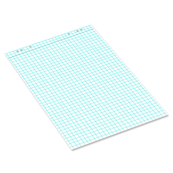 Flipchart-Block mit Großkaro 25 x 25 mm: Block 20 Blatt mit Mikroperforation