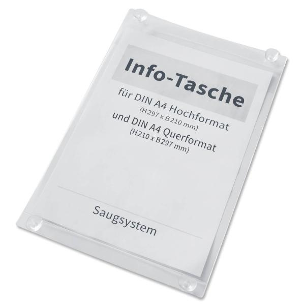 Preisblatthalter A4 Info-Tasche Eco: mit 4 Saugern