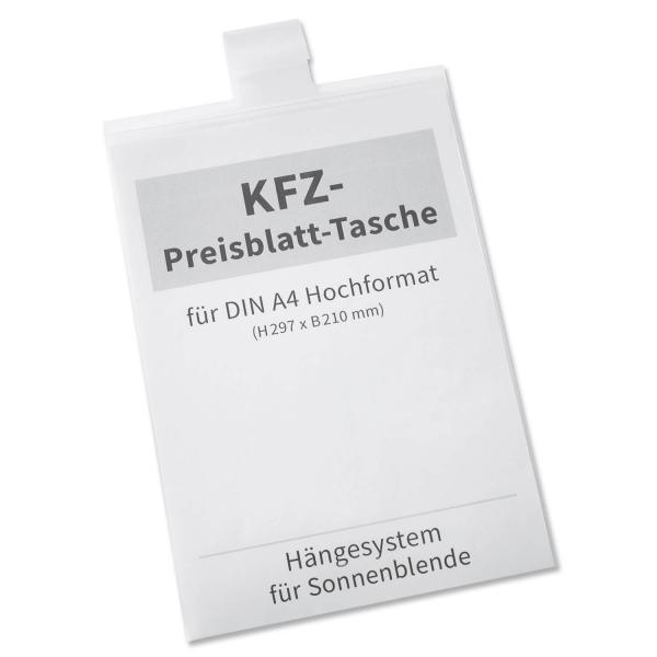 Preisblatt-Tasche A4 Light II: zum Einhängen in Sonnenblende