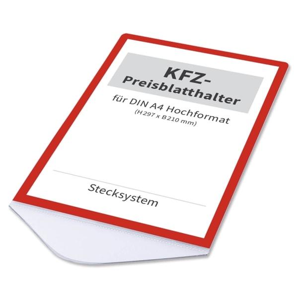 Preisblatthalter A4 Car-Fix Elegance: Stecksystem für KFZ: Front-Seitenscheibe