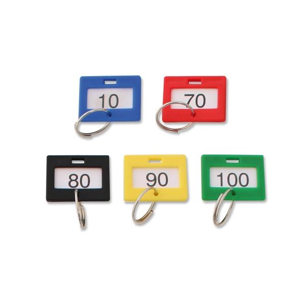 Schlüsselanhänger nummeriert von 1 bis 100, mit Ring
