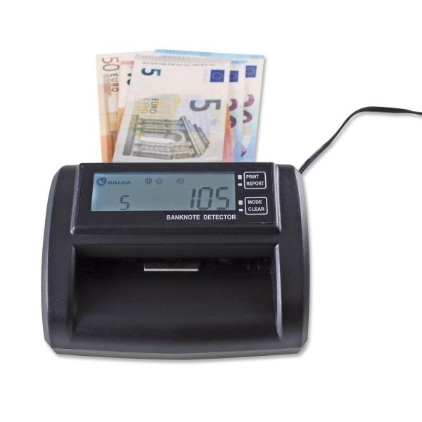 Geldschein-Prüfgerät Mobile: Netz-/Akkubetrieb, Alarmfunktion