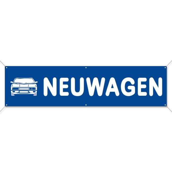 Spannband Neuwagen XL-Werbebanner mit Auto-Motiv: Breite 4m