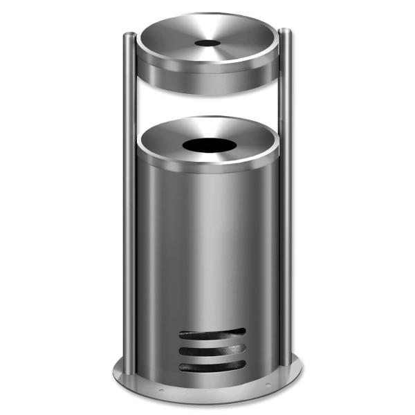Sicherheitsascher Duo-Secure: Ascher mit Abfallbehälter selbstlöschend Duo-Secure
