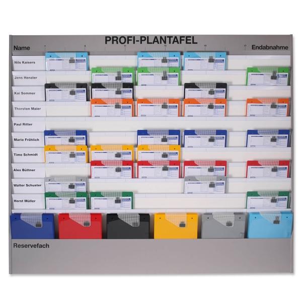 Plantafel Profi: für A4, Planungstafel, 11 Reihen: 10+1 Reihe