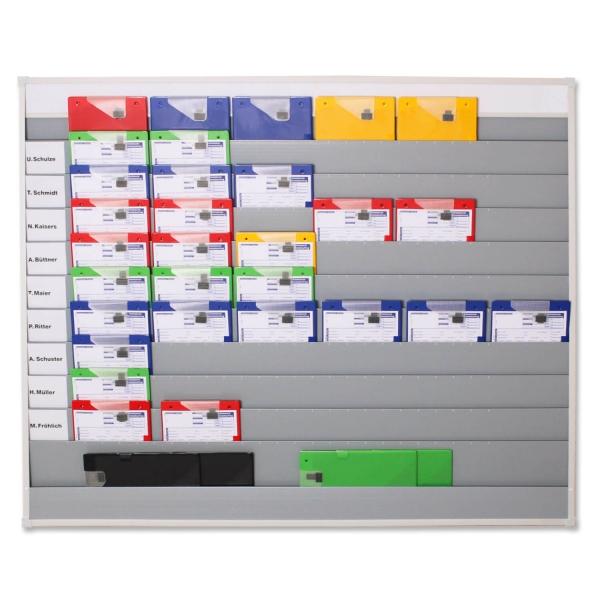 Plantafel Universal: für DIN A4 Dokumente / Mappen, 11 Reihen