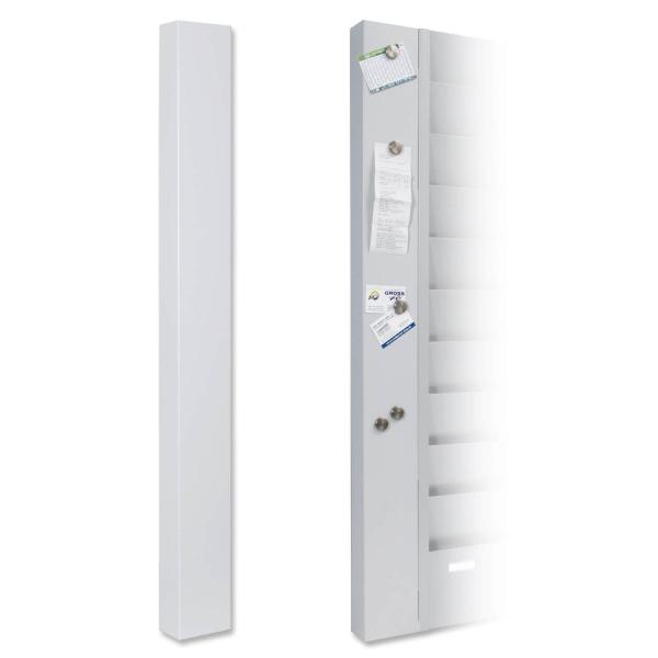 Memo-Pin-Board Erweiterungsmodul zu Metall-Plantafeln zur Wandmontage