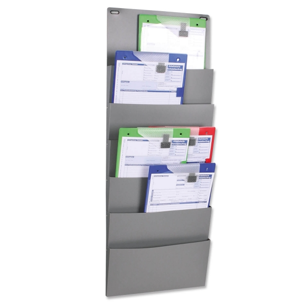 Organizer Wall-2: mit 6 Fächer für DIN A4 Hoch- Querformat