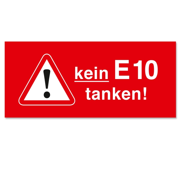 Serviceaufkleber Kein E10 tanken! Tankdeckelaufkleber selbstklebend