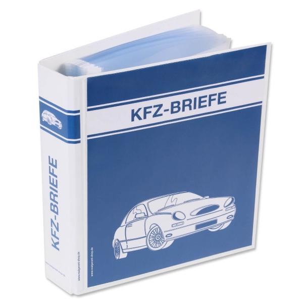 Ordner KFZ-Briefe mit 50 Klarsichthüllen, Format DIN A5  Ordner+50Hüllen