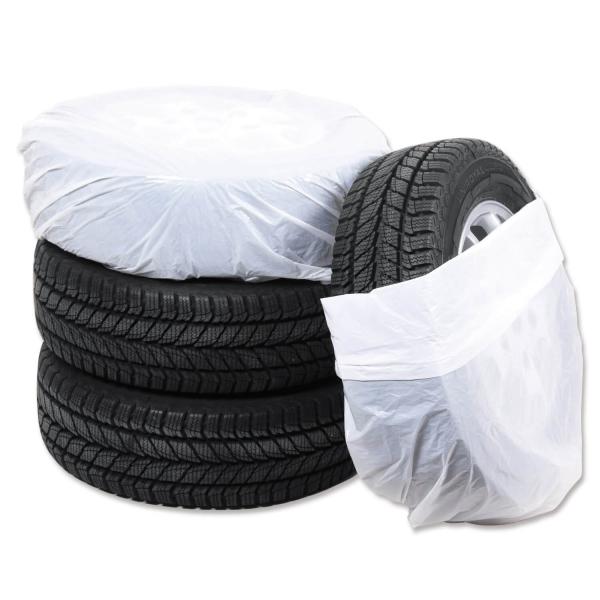 Reifensäcke Uni XL: Universalgröße, 100 Stück auf Rolle  Weiß