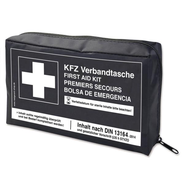 KFZ Verbandtasche mit Klettstreifen, nach DIN 13164-2014