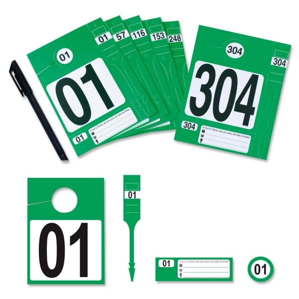 Leitzahl-Set 01-304: zur Fahrzeugorganisation: Nr. 01 bis 304