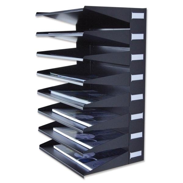 Sortierreck 8-fach Ablage-Sortiersystem: für Wand und Tisch