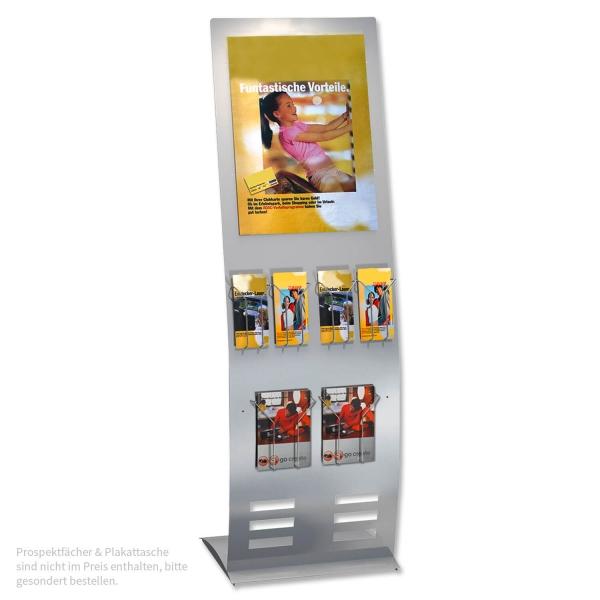Info-Prospektständer Flex-Line II: flexibel bestückbar (Preis ohne Zubehör)