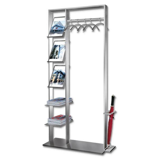 Garderobe Multi X freistehende Garderobe mit Ablagefächer  Garderobe
