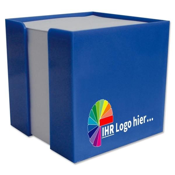 Zettelbox mit Papierfüllung  Box in Blau