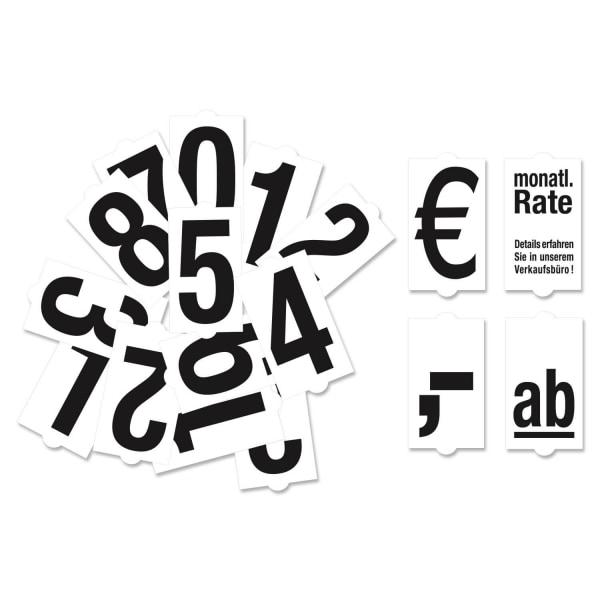Steckzahlen-Set für Verkaufsschild Sale: 36 Zahlen / Zeichen  Ziffern/Zeichen