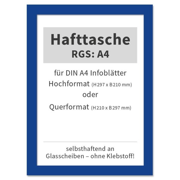 Hafttasche RGS: A4 selbsthaftend an Glasscheiben, bis 120°C hitzebeständig