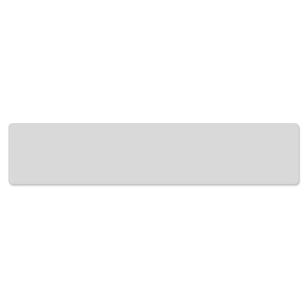 Miniletter Blanko lichtgrau:  zur Selbstbeschriftung mit gerundeten Ecken