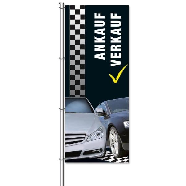 Fahne Ankauf/Verkauf Design: Racing - mit Bildmotiven  B 300 x B 120cm