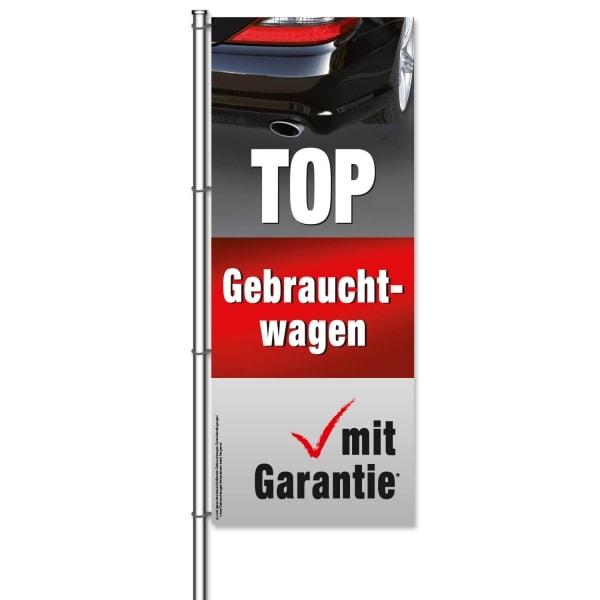Fahne Gebrauchtwagen TOP-Gebrauchtwagen mit Garantie*  H 300 x B 120cm