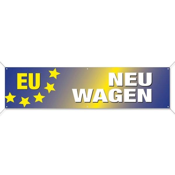 Spannband PVC EU-Neuwagen: aus reißfester PVC-Plane